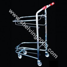2 Tier Hand Basket Trolley