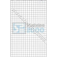 Wire Mesh Flat 1.8m X800mm Chrome
