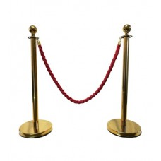 Stanchion Complete (2 Poles + 1 Belt) Gold