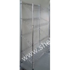 1.3M x 300mm x 600mm 4 Tier Downsloping