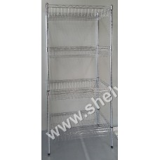 1.26m x 340mm x 600mm 4 Tier Basket