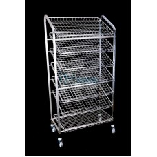 Bread Trolley  7 Tier Chrome 1.93Hx1.8Wx975D mm