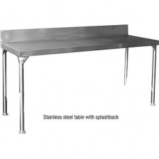 Stainless Steel Table with Splashback W2360mm x D610mm x H900